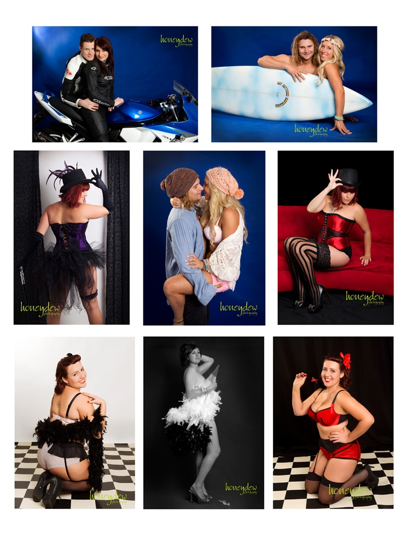 Glamour Photography shoot with props