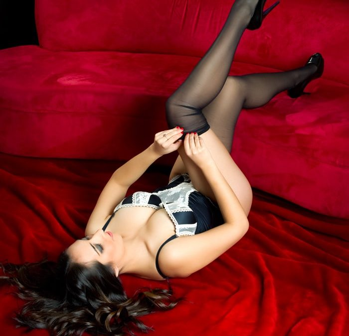 photo of girl in stockings