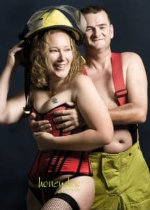 boudoir session with fireman