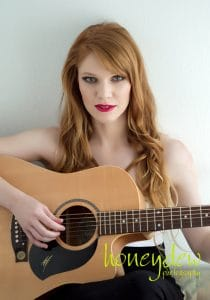 boudoir session with guitar