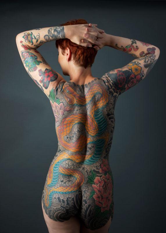 The tattooed lady whole back tattoo