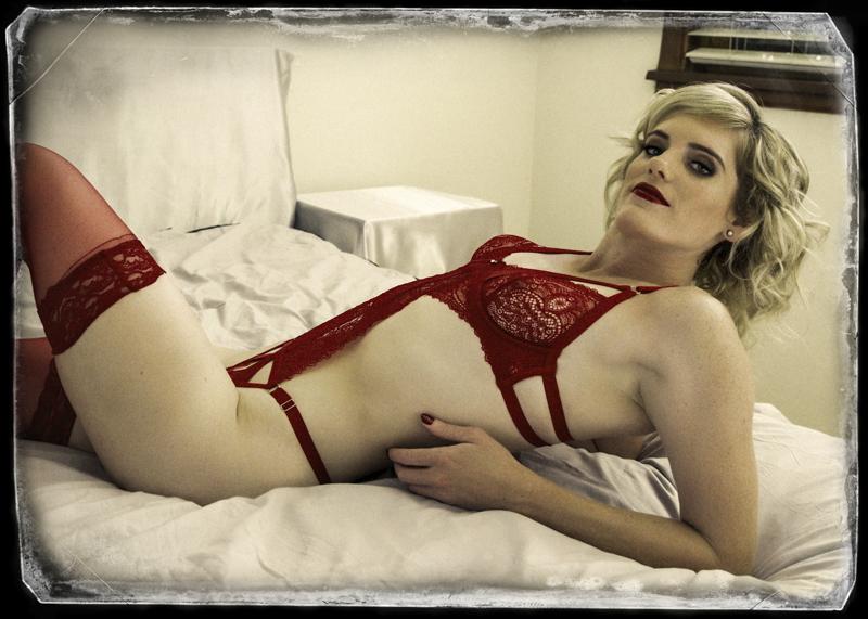Boudoir on bed