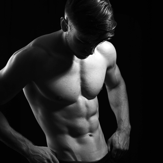 Muscle semi nude male