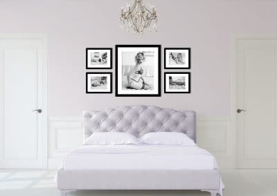 Investment in wall art display in bedroom